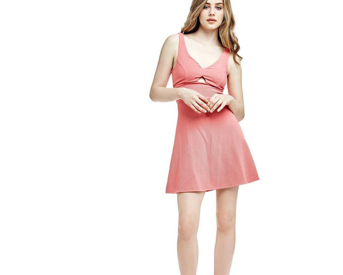 Guess jurk met cut-out voor roze