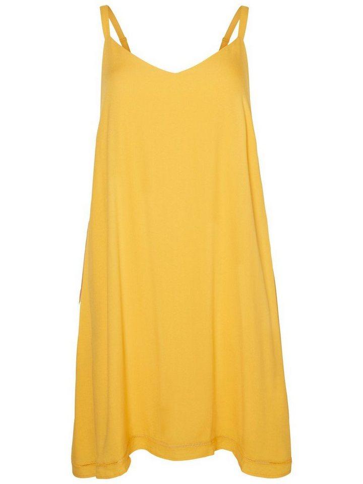 Junarose Mouwloze jurk geel