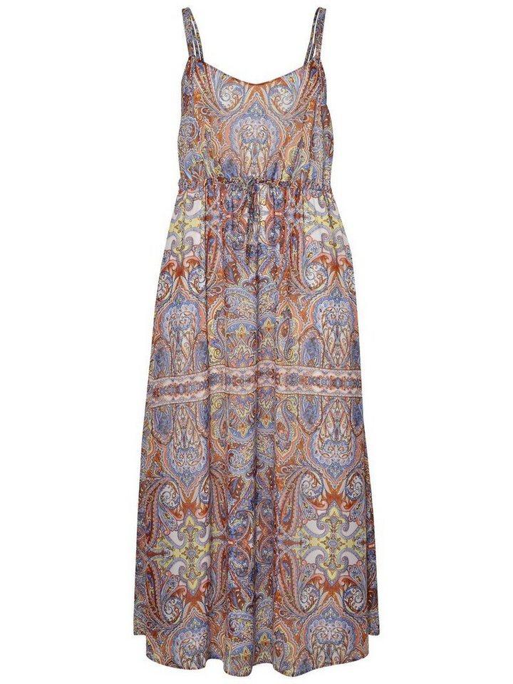 Junarose Mouwloze jurk bruin