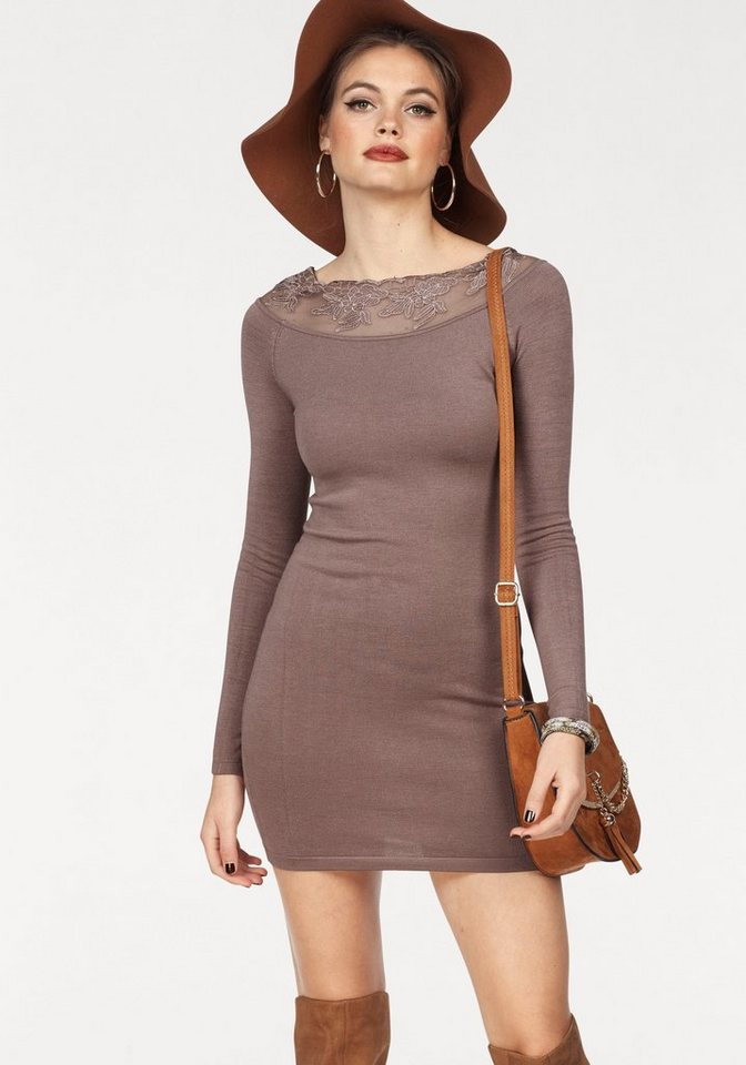 Melrose tricotjurk bruin