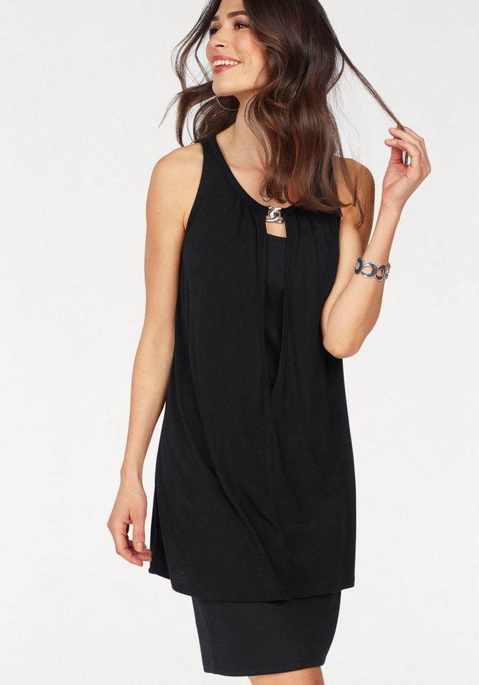 Laura Scott 2-in-1-jurk zwart