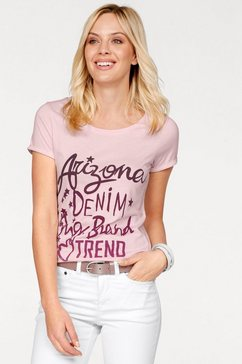 arizona shirt met ronde hals roze