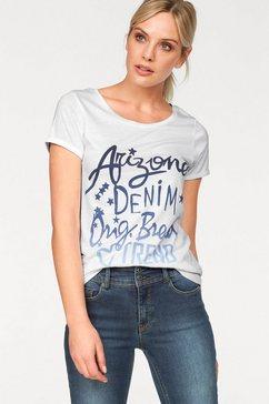 arizona shirt met ronde hals wit