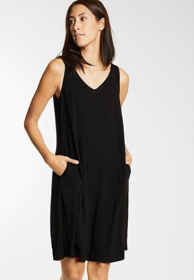 Street One jurk met zakken Olive zwart