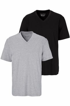 man's world t-shirt (set, 2-delig) zwart