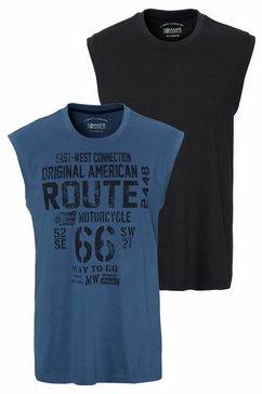 man's world muscle-shirt van puur katoen (set, 2-delig, set van 2) zwart