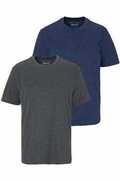 man's world t-shirt (set, 2-delig) grijs