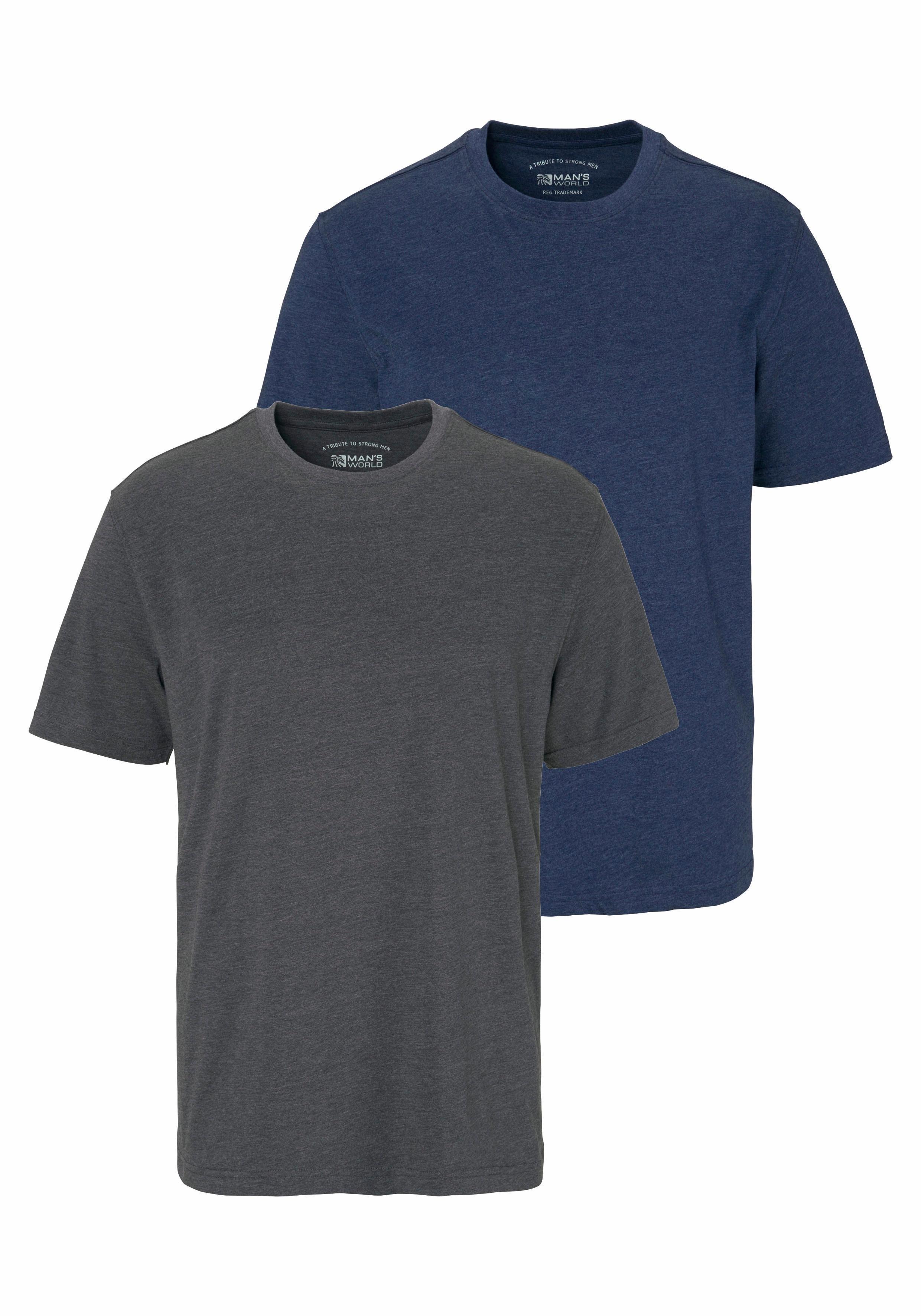 Man's World T-shirt (set, 2-delig) bestellen: 14 dagen bedenktijd
