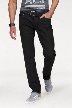 john devin straight-jeans zwart