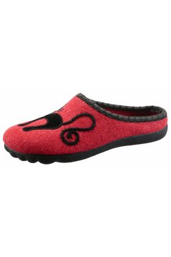 maybe pantoffels met opvallend poezenmotief rood