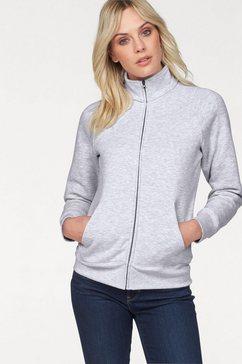 fruit of the loom sweatshirt »lady-fit premium sweat jacket« grijs