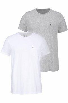 bruno banani t-shirt (set van 2) wit