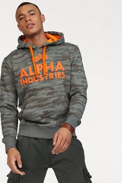 alpha industries capuchonsweatshirt »foam print hoody« multicolor