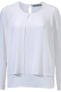 kraagloze blouse wit