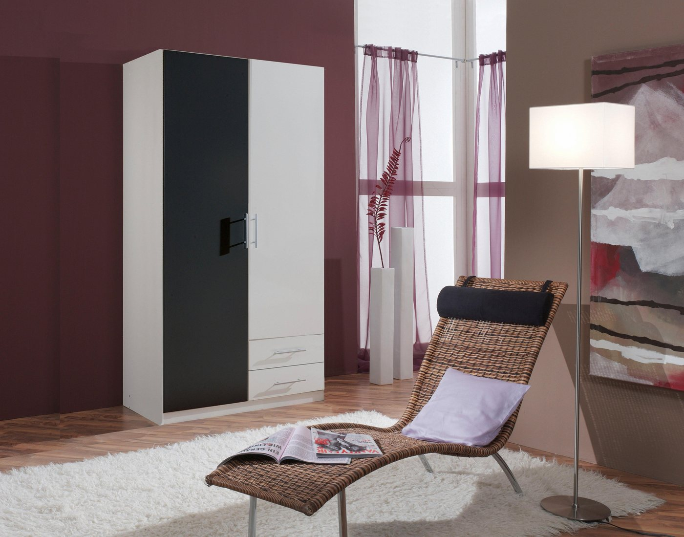 Wimex garderobekast, 2-deurs met 2 laden
