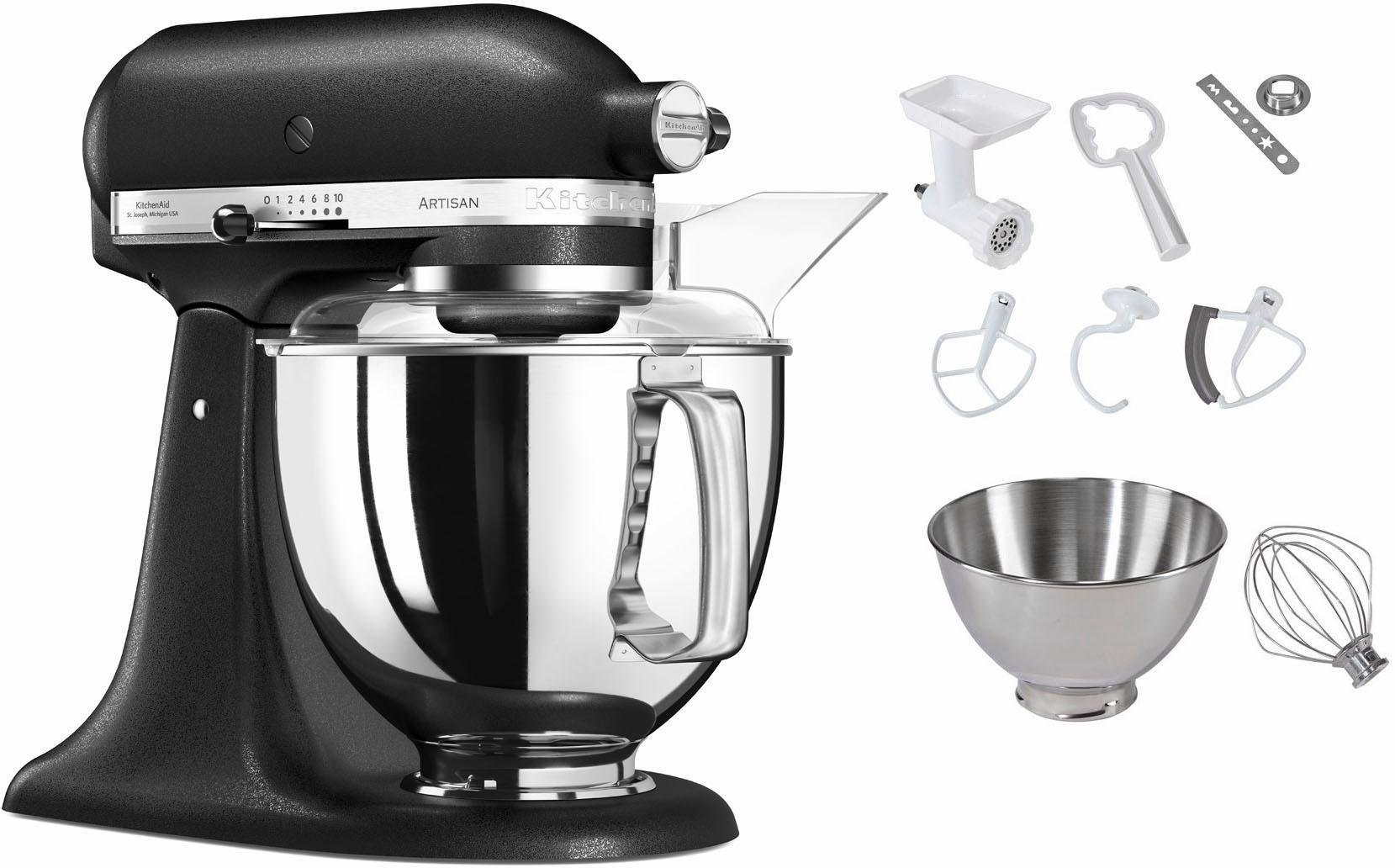kitchenaid keukenmachine artisan 5ksm150psebk gietijzer. Black Bedroom Furniture Sets. Home Design Ideas