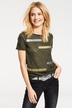 shirt met ronde hals groen