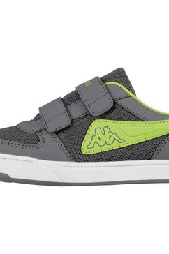 kappa sneaker »trooper light sun kids« grijs