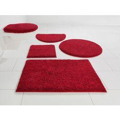 badmat »maren«, home affaire, hoogte 15 mm, met antislip-coating, geschikt voor vloerverwarming rood