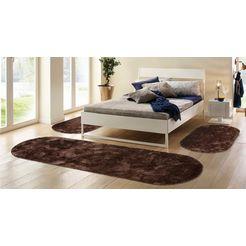 hoogpolige slaapkamerset 3-dlg., bruno banani, »dana«, hoogte 30 mm, getuft bruin