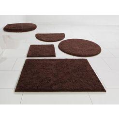 badmat »maren«, home affaire, hoogte 15 mm, met antislip-coating, geschikt voor vloerverwarming bruin