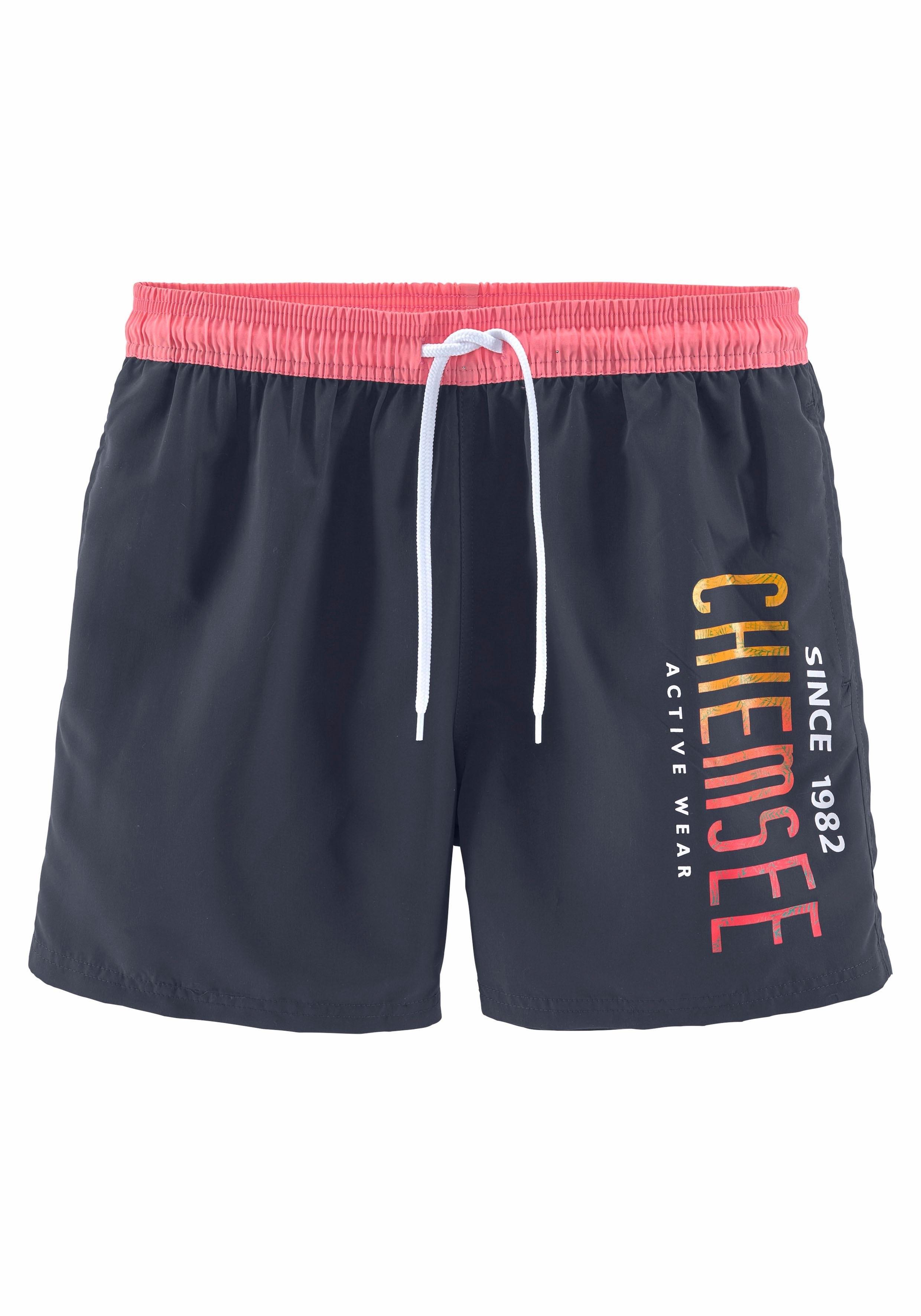 Chiemsee zwemshort met contrastkleurige band nu online kopen bij OTTO
