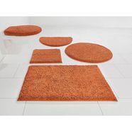 badmat »maren«, home affaire, hoogte 15 mm, met antislip-coating, geschikt voor vloerverwarming oranje