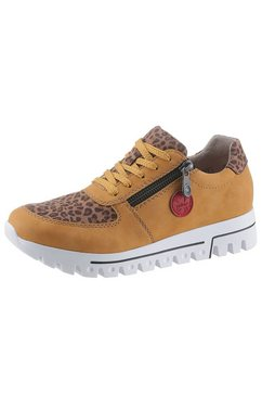 rieker sneakers met sleehak geel