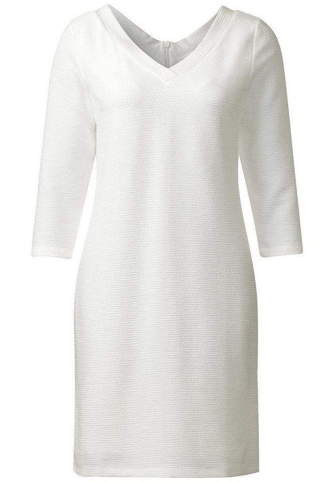 Street One jersey jurk met V-hals Phila wit
