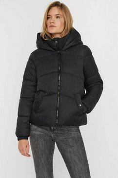 vero moda gewatteerde jas vmupsala short jacket zwart