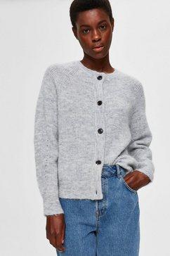 selected femme vest slflulu heerlijk zachte wolblend grijs