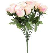 botanic-haus kunstbloem bos rozen met pluimgipskruid (1 stuk) beige