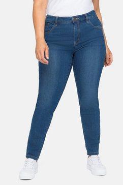 sheego stretch jeans skinny in 5-pocketsmodel blauw