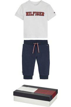 tommy hilfiger shirt  broek met een groot logo (set, 2-delig) blauw
