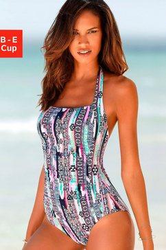 s.oliver red label beachwear badpak met shaping-inzet wit