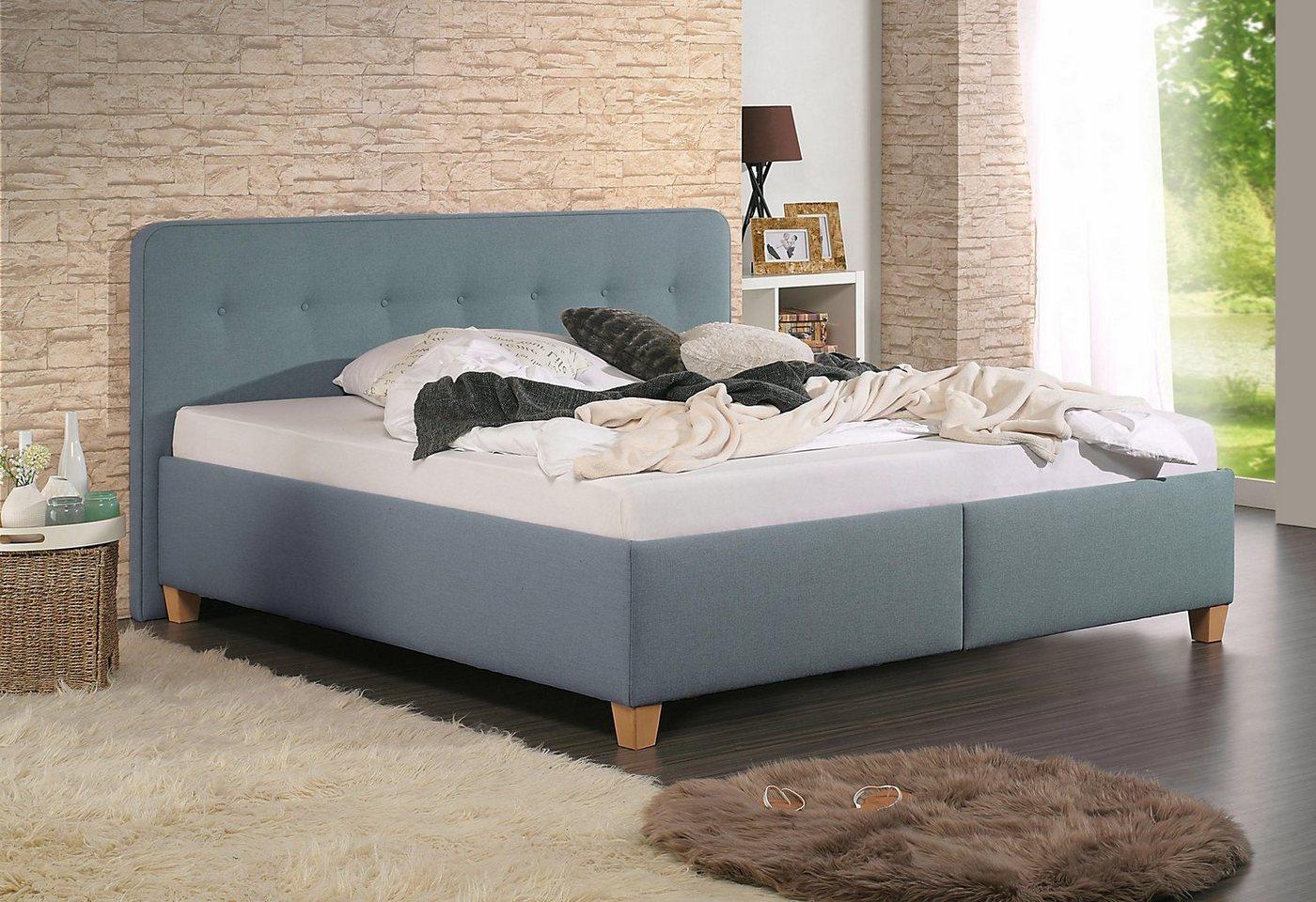 HOME AFFAIRE bekleed ledikant Figaro met of zonder matras in 2 uitvoeringen, hardheid 2 of 3