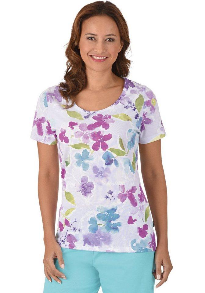 TRIGEMA Shirt Bloemen »Pyjamajasje«