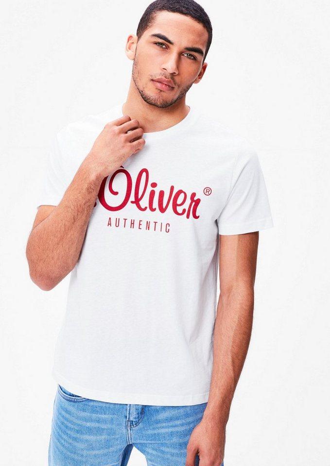 S.oliver Red Labels.Oliver LABEL T - shirt met een logoprint