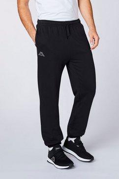 kappa joggingbroek snako in aan de binnenkant geruwde sweatkwaliteit zwart