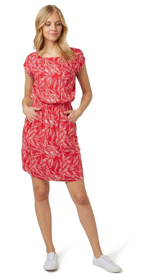 Tom Tailor jurk »jurk met bladermotief« roze