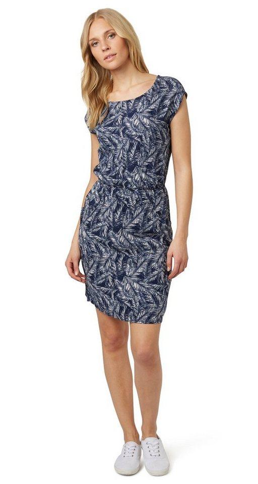 Tom Tailor jurk »jurk met bladermotief« blauw