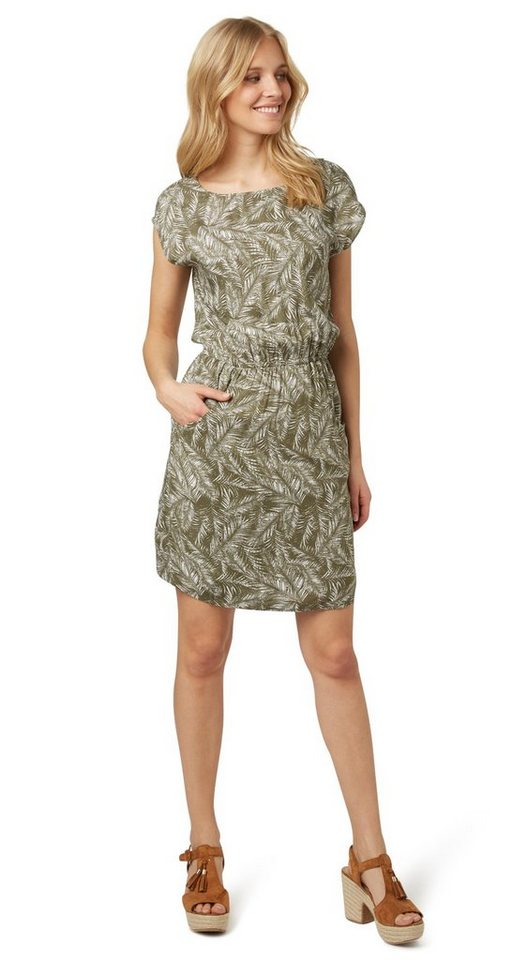 Tom Tailor jurk »jurk met bladermotief« groen
