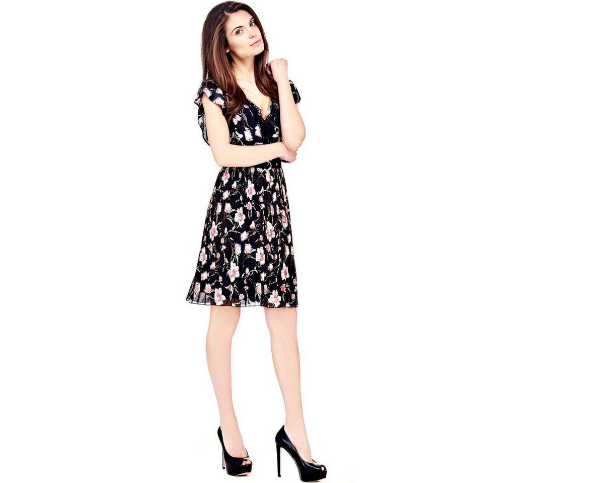 Guess jurk met bloemenprint multicolor