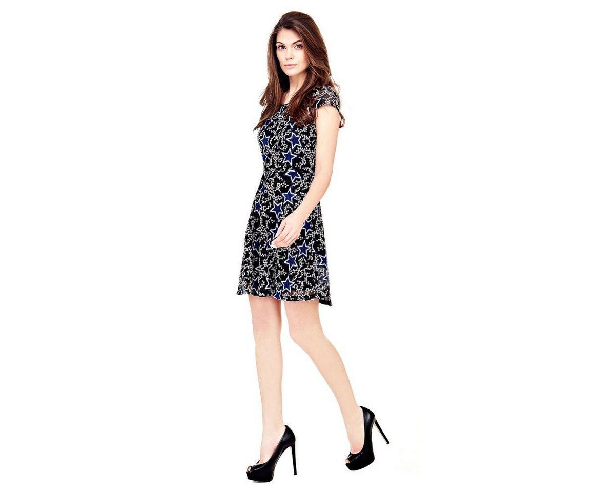 Guess jurk met sterrenmotief zwart