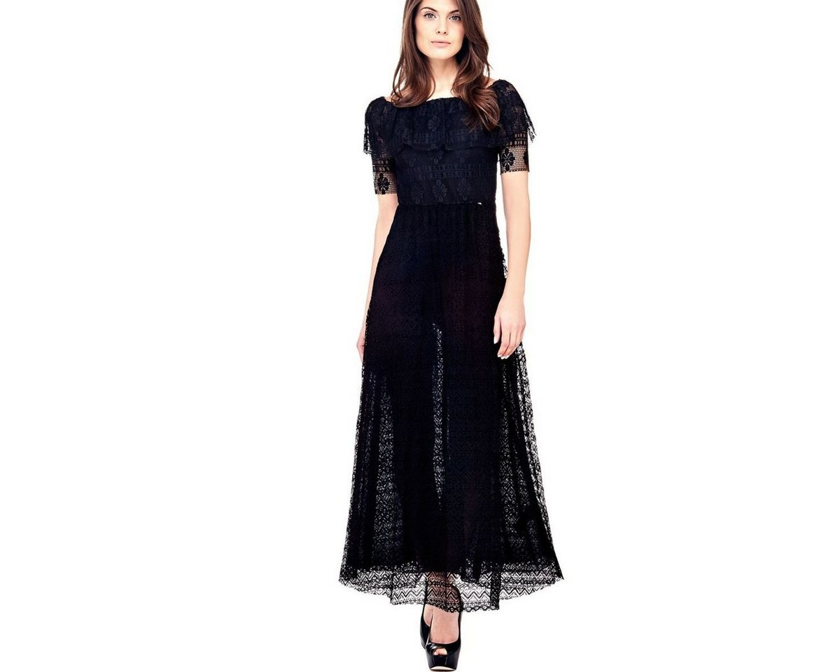 Guess jurk van kant zwart