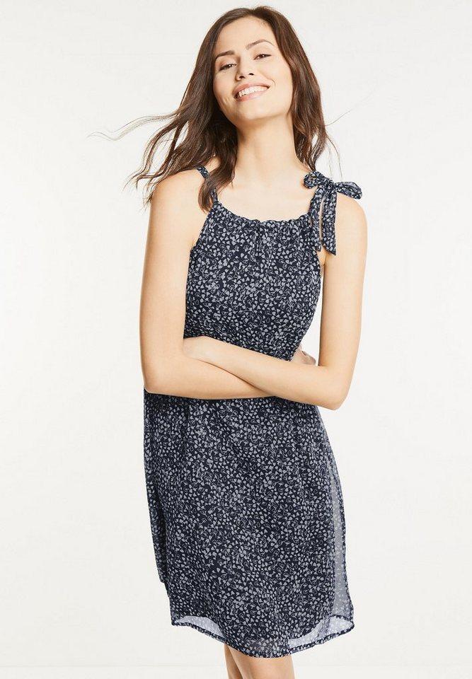 Street One chiffon jurk Piper blauw