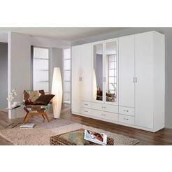 rauch garderobekast met spiegel wit