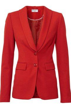 blazer met sjaalkraag rood