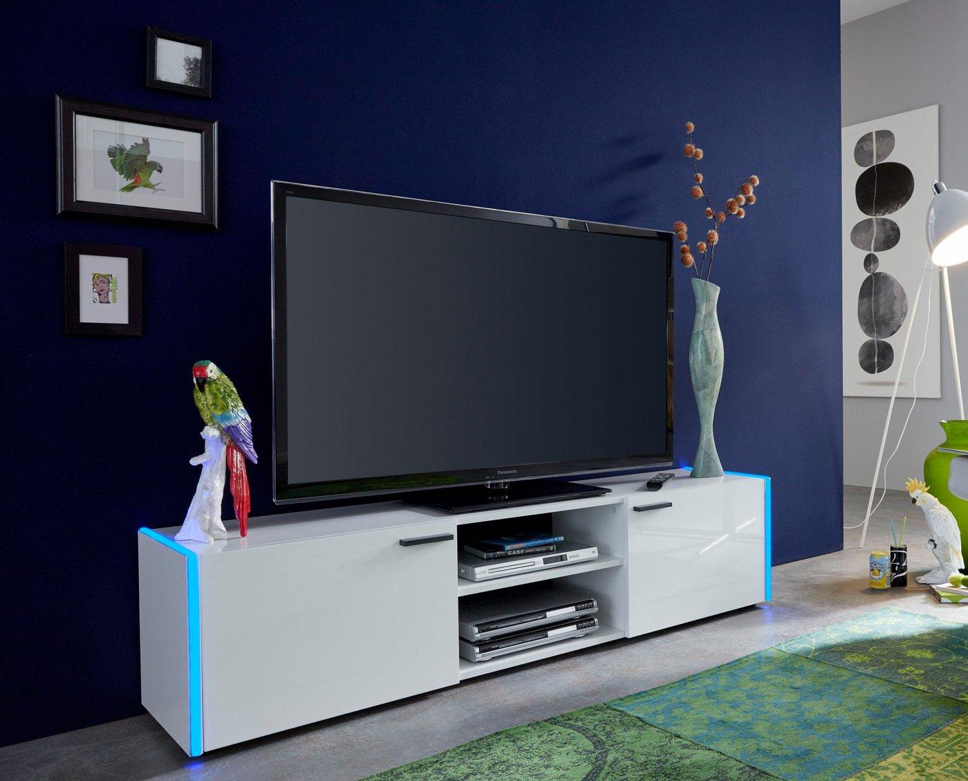TV-meubel Shark, breedte 160 cm, inclusief RGB-verlichting