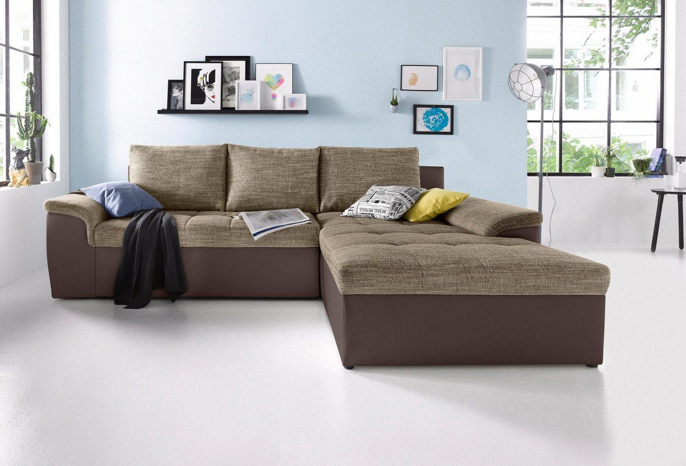 Sit & More hoekbank XL, naar keuze met slaapfunctie